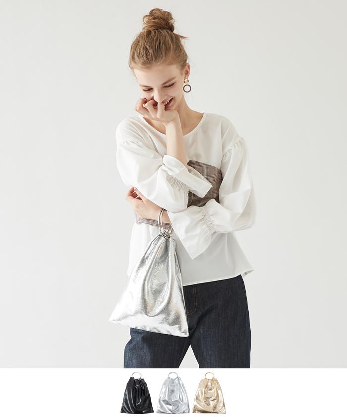2wayリングハンドルメタリックバッグ【メール便可/50】
