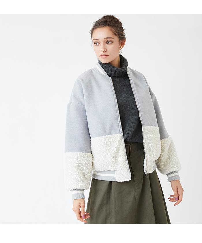 ed0f51be94cc2 ボアコンビブルゾン通販|レディースファッション・洋服通販|titivate ...
