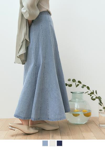 デニムソフトマーメードスカート〔人気商品!予約〕