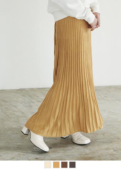 ランダムプリーツニットスカート