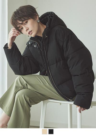 エアリー中綿ボリュームジャケットコート