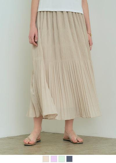 マジョリカプリーツマキシスカート