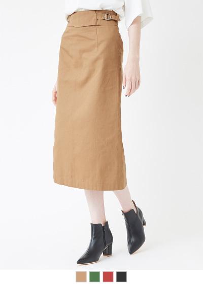 ウエストデザインタイトスカート【メール便可/100】