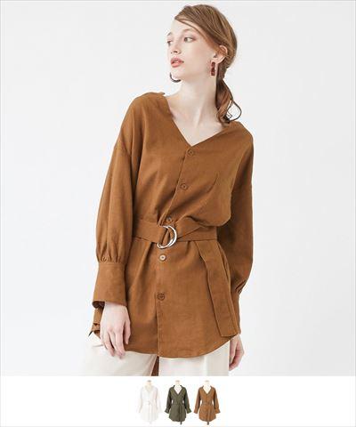 リネンオーバーサイズシャツ
