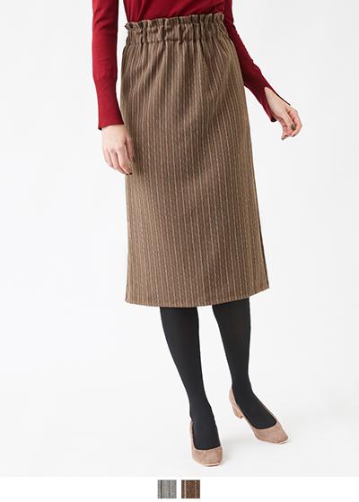ウエストシャーリングストライプスカート【メール便可/60】