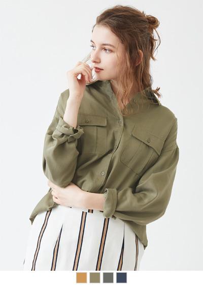 オーバーサイズミリタリーシャツ【メール便可/100】〔先行受注!予約〕