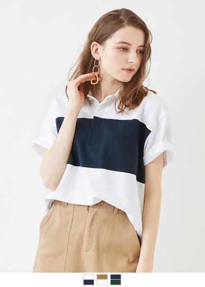ワイドボーダーラガーシャツ【メール便可/70】