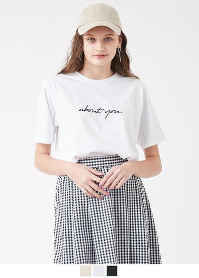 刺繍ロゴ半袖Tシャツ【メール便可/50】