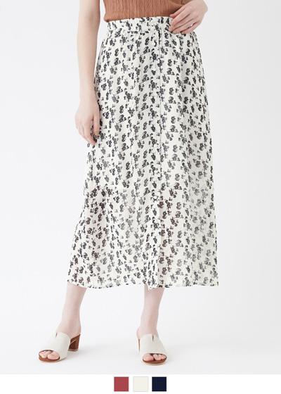 花柄フロントボタンスカート【メール便可/80】