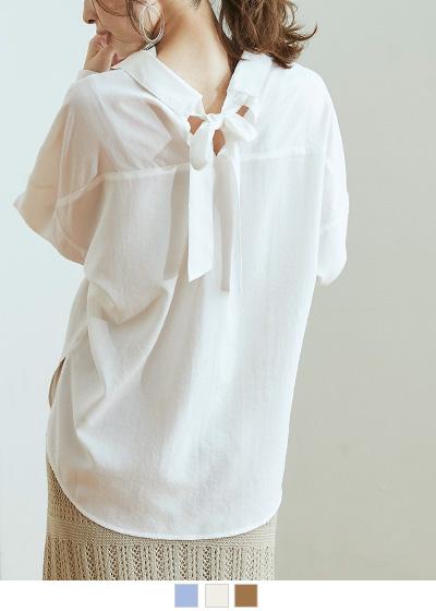 バックリボンスキッパーシャツ【メール便可/50】