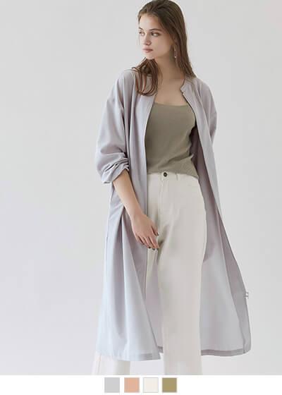フロントジップロングジャケット/ワンピース